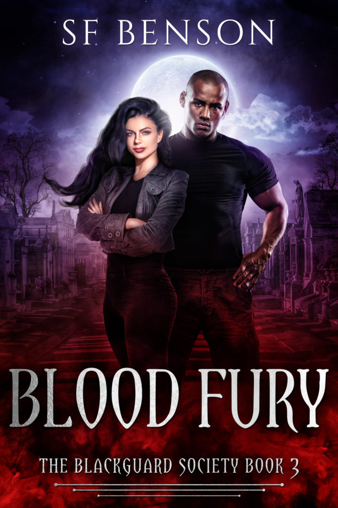 Cover Art for Blood Fury: the BlackGuard Society, Book 3 by SF Benson