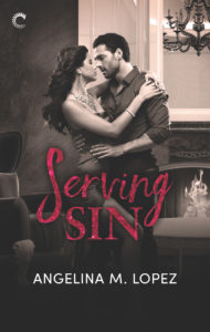 Cover Art for Serving Sin by Angelina M.  Lopez
